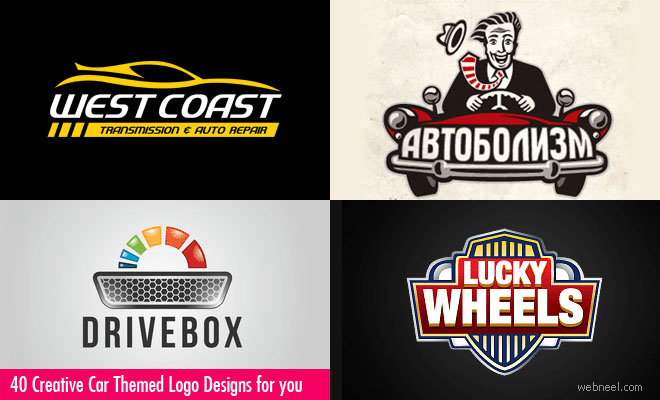 40 Creative Car themed Logo Design examples for your inspiration