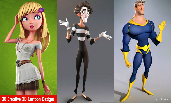 Cartoon Characters 3d Model : Funny cartoon characters and d models design inspiration