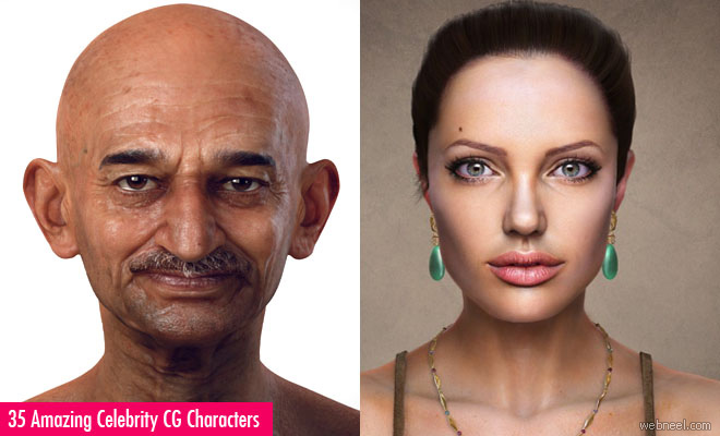 35 Amazing Celebrity 3D Models and CG Character Designs