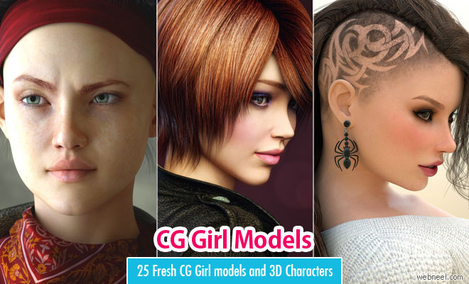 25 Fresh CG Girl models and 3D Character Designs for your inspiration