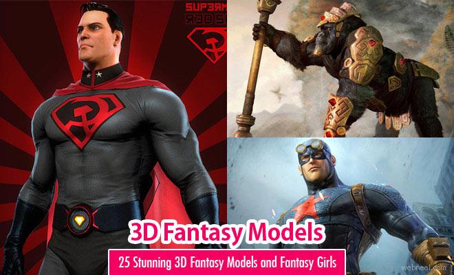 25 Stunning 3D Fantasy Models and Game Character Designs