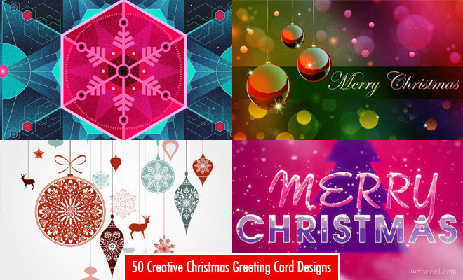 50 Best Christmas Greeting Card Designs and Ideas for your inspiration