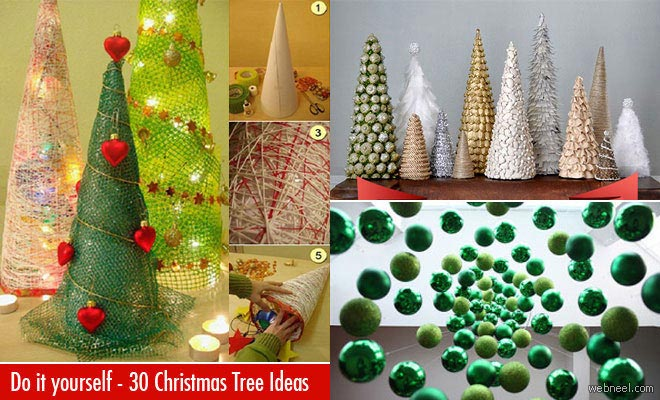 25 beautiful christmas tree diy ideas for your inspiration christmas tree diy decoration ideas solutioingenieria Images