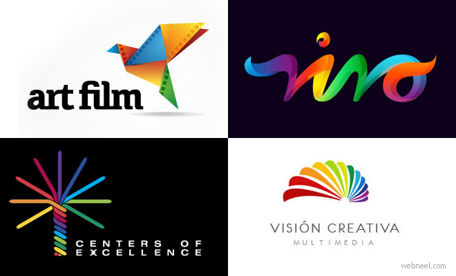40 Most Attractive Multi Color Logo Design examples for your inspiration