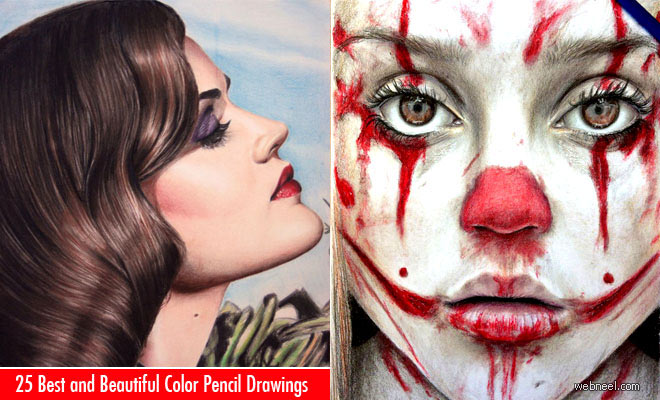 23 Best and Beautiful Color Pencil Drawings from famous artists