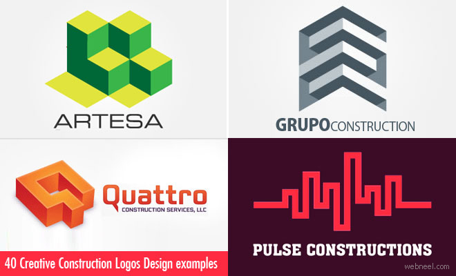 40 Creative Construction Logos Design examples for your inspiration