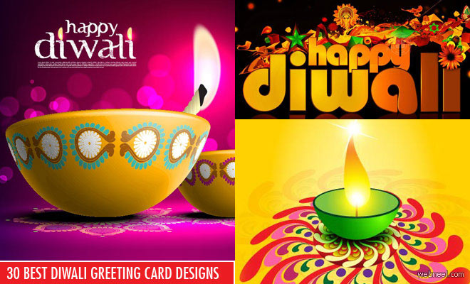 30 Best and Beautiful Diwali Greeting card Designs and backgrounds