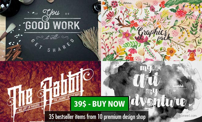 35 bestseller items from 10 premium design shops - Mega Bundle Vol 6