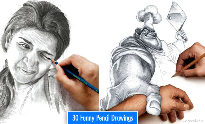 Funny Drawings - 30 Most Funniest Pencil Drawings and Art works