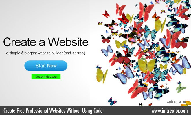 Create Free Professional Websites Without Using Code