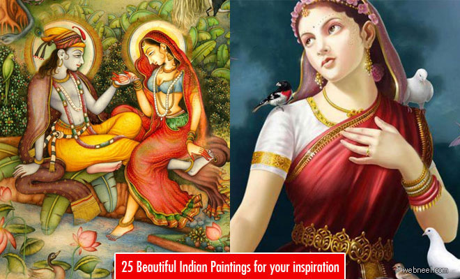 25 Most Beautiful Indian Paintings for your inspiration