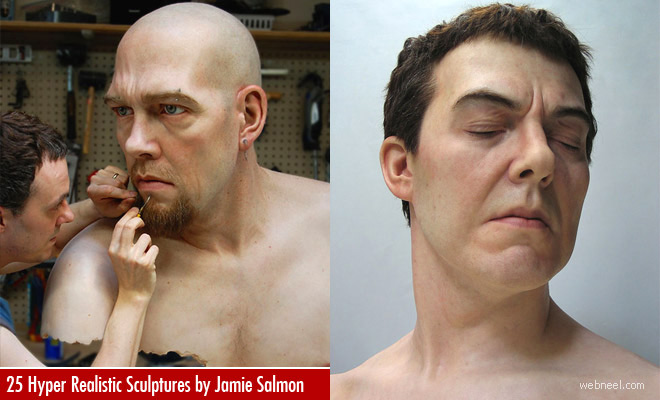 25 Hyper-Realistic Silicone Portrait Sculptures by Jamie Salmon