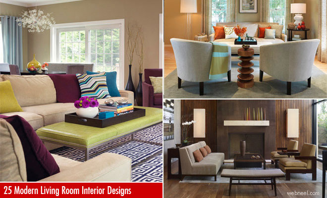 Modern living room & 35 Beautiful Modern Living Room Interior Design examples