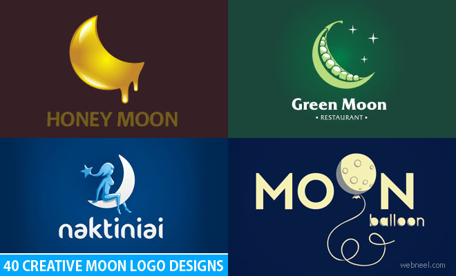 50 Creative Moon Logo Design examples for your inspiration - part 2
