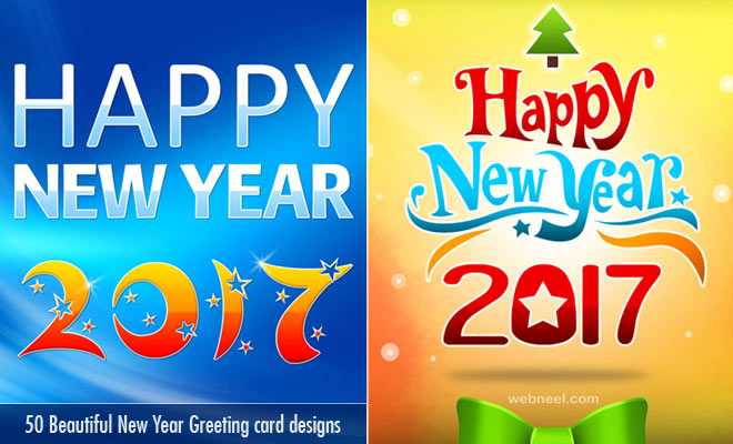 30 Beautiful New Year Greeting Card designs for your inspiration