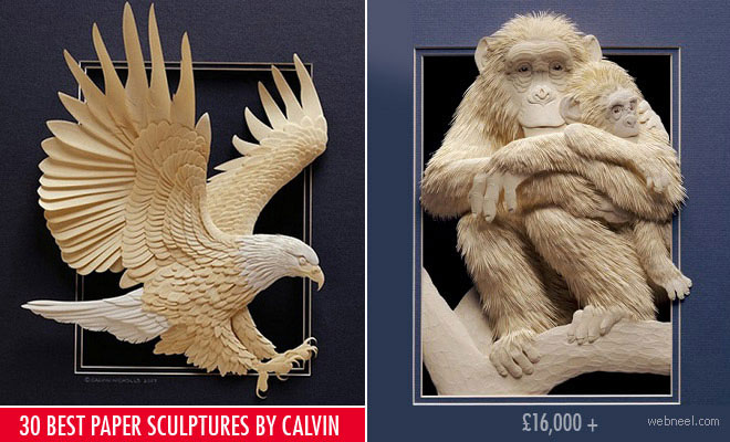 30 Best and Beautiful Paper Sculptures by Calvin Nicholls