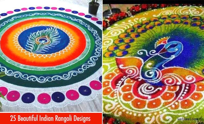 25 Beautiful and Easy Indian Rangoli Designs for your inspiration