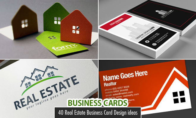40 creative real estate and construction business cards designs real estate business cards reheart