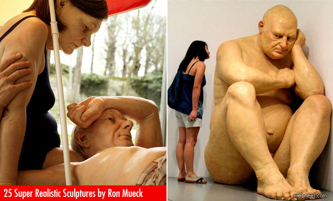 25 Super Realistic and Mind-Blowing Human Sculptures by Ron Mueck