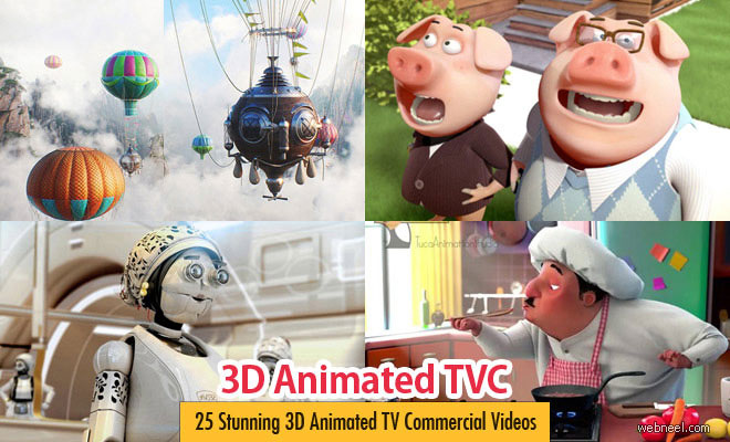 25 Stunning 3D Animated TV Commercial Videos