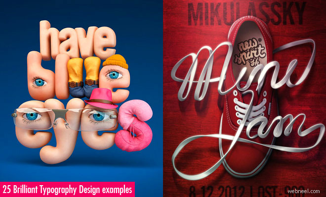 25 Brilliant Typography Design examples for your inspiration