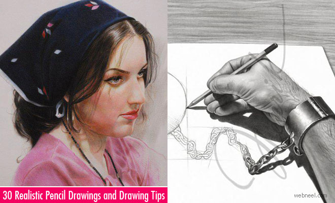 30 Realistic Pencil Drawings and Drawing Tips for Beginners