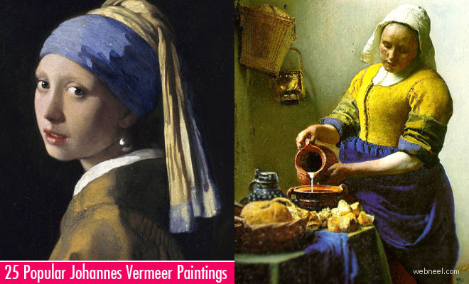 25 Most Popular Johannes Vermeer Paintings - Greatest Dutch Painter