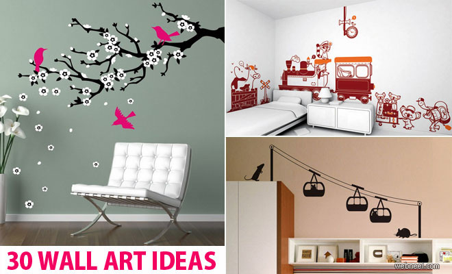 30 beautiful wall art ideas and diy wall paintings for your inspiration - Wall Graphic Designs