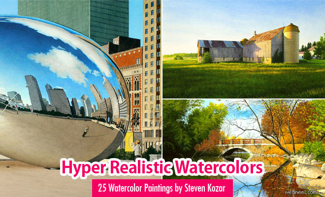 25 Hyper Realistic Watercolor Paintings by Steven Kozar