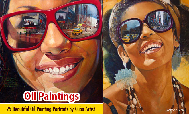 25 Beautiful Oil Painting Portraits by Cuba Artist Yunior Hurtado