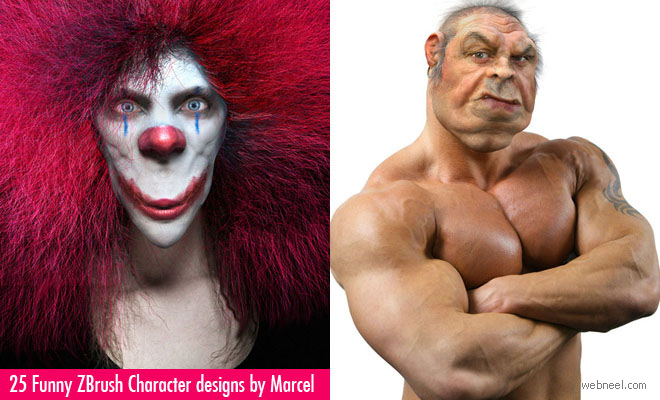 25 Creative and Funny ZBrush Character designs by Marcel