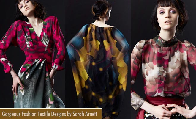 Gorgeous and provocative Fashion Textile Designs by Sarah Arnett