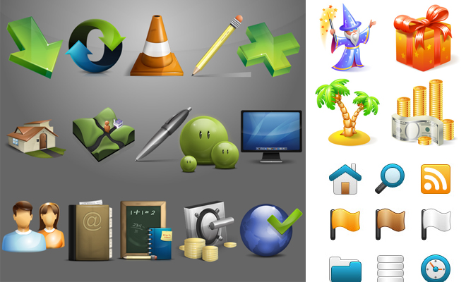 250 Cretive Icon Set Collection for Graphic Designers - Download zip
