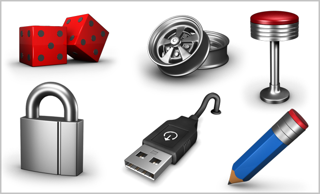 Creative 3D Icon Set - PNG - Download-attached zip