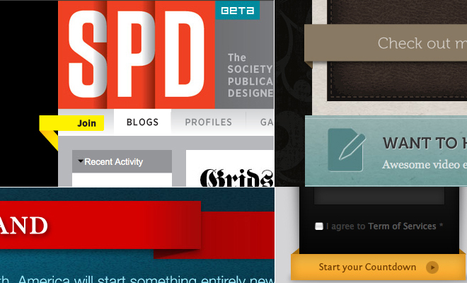 Third Dimension Effects, shadows and Depth in Web design