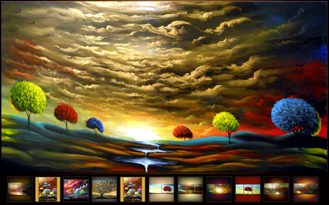 thumb%20Matthew 25 Colorful Landscape Paintings by Artist Matthew Hamblen
