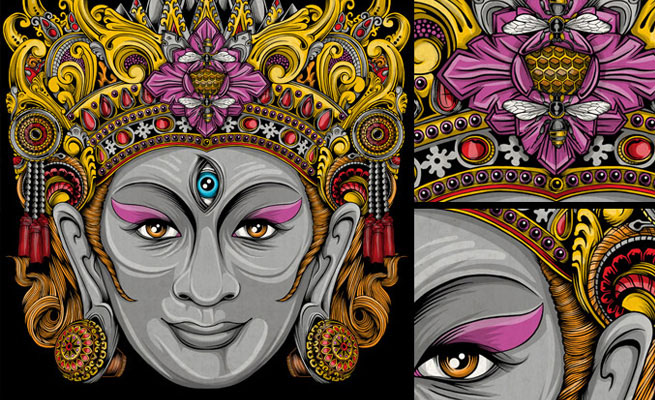 15 Stunning and colorful illustrations and digital paintings by Balinese Indonesia