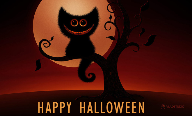Happy Halloween 2011 - Greetings card collection and Background graphics