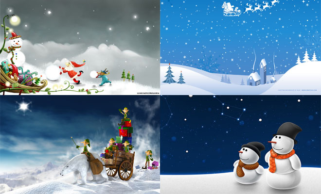 30 Beautiful Christmas and Winter themed Wallpapers for your desktop