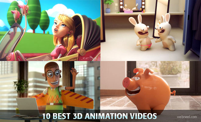 10 Beautiful 3D Animated Short Films and TV Commercial Videos
