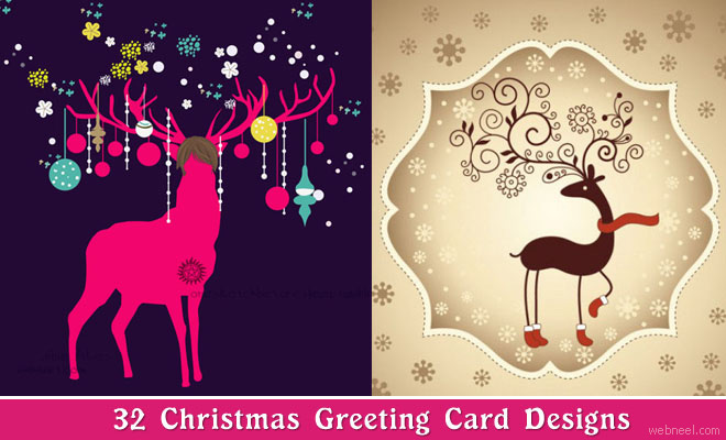 30 beautiful christmas greeting cards for your inspiration m4hsunfo