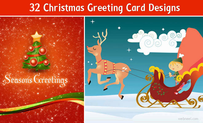 thumb 33christmas 33 Best Christmas Greeting Card Designs for your inspiration