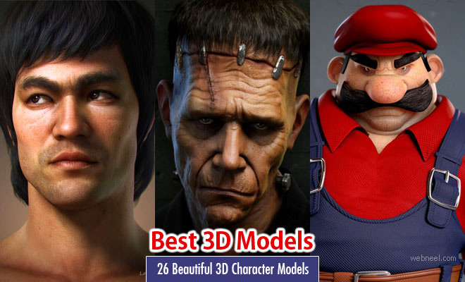 26 Beautiful 3D Character Designs and 3D Illustrations for your inspiration