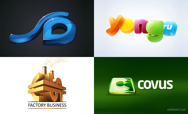 50 creative 3d logo design examples for your inspiration - Graphic Design Logo Ideas
