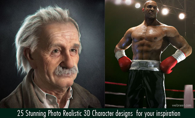 25 Stunning Photo Realistic 3D Character designs  for your inspiration