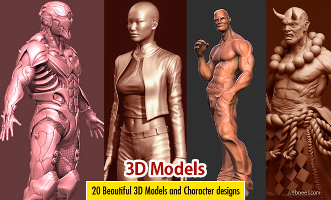 25 Realistic 3D Models and Character Designs for your inspiration