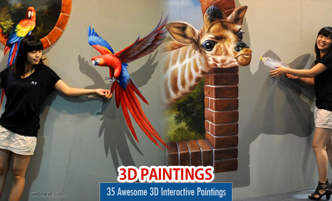 35 Awesome 3D Interactive Paintings - Magic Art works at Special Exhibition