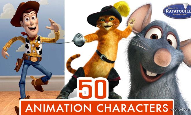 Top 50 Animation Movie Character Designs of All Time