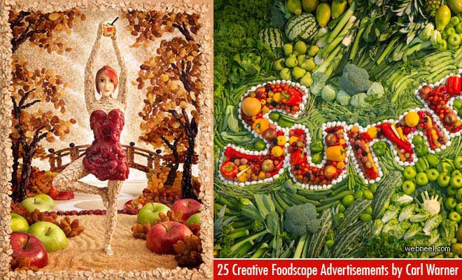25 Creative and Mind-Blowing Foodscape Advertisements by Carl Warner