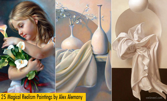 25 Magical Realism Paintings and Realistic Still life paintings by Alex Alemany